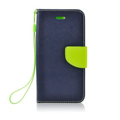 Fancy Book case - APP IPHO 5/5S/5SE blu-lime