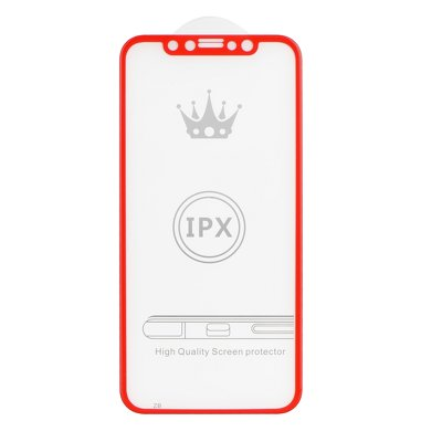 5D Full Glue Tempered Glass - APP IPHO X / XS rosso